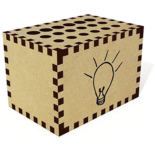 Azeeda 'Beleuchtete Glühbirne' Bleistift Block / Halter (PB00016081)