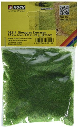 "NOCH- 1.5 mm Scatter Grass Ornamental Lawn Landscape Modelling Hierbas ""Césped"", Color verde (8214)"