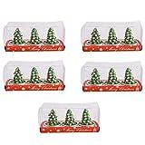 Janly Clearance Sale 1/5/7Boxes - Velas de Navidad (5 unidades, árbol de Navidad)
