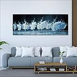 DECORARTE - Cuadros Impresión Digital - Fotografía sobre Cristal Bailarinas (160x60)