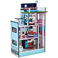 Teamson Kids 3-Floor Small Dollhouse with Elevator