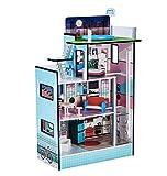 Teamson Kids- 3.5' Maison de Poupée, TD-13111D, Bleue