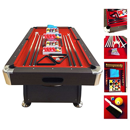 Billardtisch 7 ft Modell RED DEVIL Full Optional Billard Billard-Spiel Messung 188 x 96 cm neue