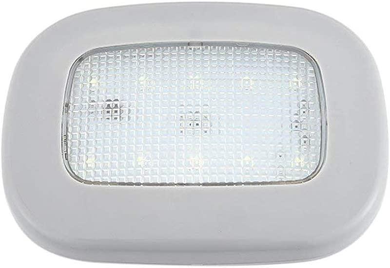 Alotm Car Interior Dome LED Light Rechargable Push Light Stick On Anywhere LED Night Light Tail Box Lights Car Reading Lights 10 LEDs Light For Kitchen Cabinet Closets Counters White Light