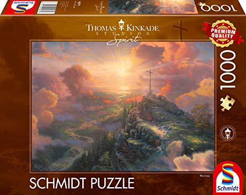 Schmidt Spiele 59679 Thomas Kinkade, Spirit, Das Kreuz, 1.000 Teile Puzzle