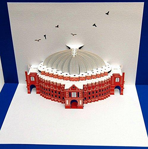 FOREVER Pop Up 3D Karte London Grusskarte Geburtstag Gutschein Royal Albert Hall 16x11cm