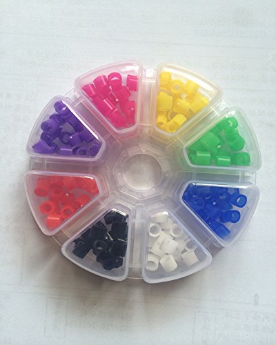 KKDENTAL 160 Pcs Silicone Dental Code Rings Autoclavable 135℃ Size: 465mm Color Code Rings for Dental Instrument