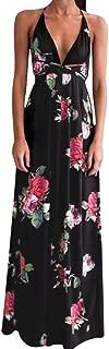 Sexy Dresses for Women,Womens Floral Long Maxi Dress Sleeveless Evening Party Summer Beach Sundress