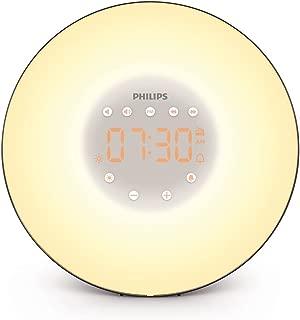 Philips Wake-Up Light with Sunrise Simulation and Radio, Black, HF3506