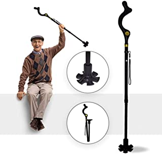 Self Standing Cane for Men and Women with Foldable and Lightweight for Walking Stick