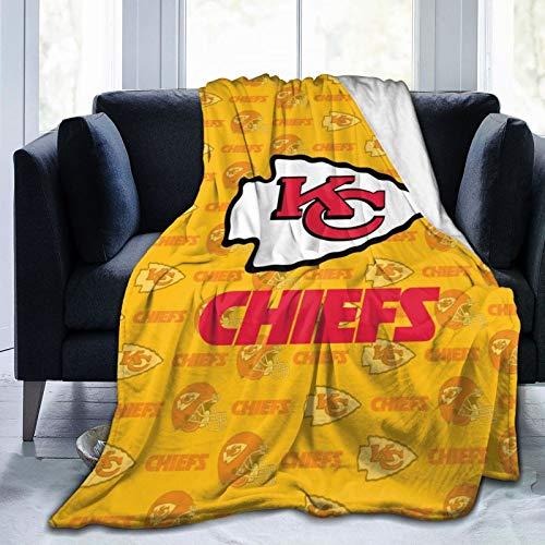 Fleece Blanket Kan-SAS Ci-Ty Logo C-HIE-Fs Super Soft Warm Bed Blanket Plush Blanket Lightweight Bed Throw Blanket Microfiber 80'X60'