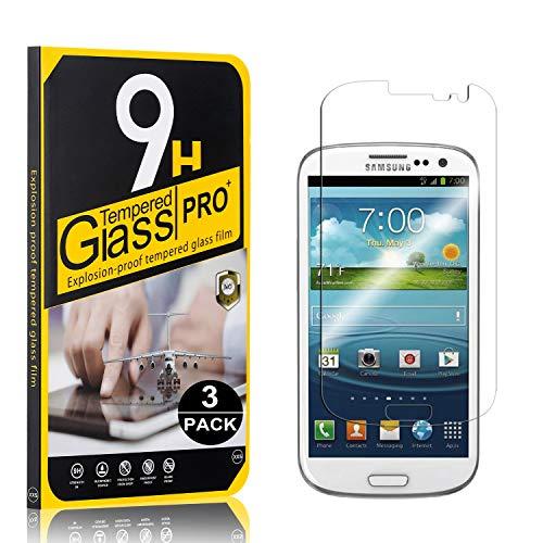Bear Village® Vetro Temperato per Galaxy S3, Nessuna Bolla, 0.26mm HD Alta Trasparenza, Pellicola Protettiva in Vetro Temperato per Samsung Galaxy S3, 3 Pezzi