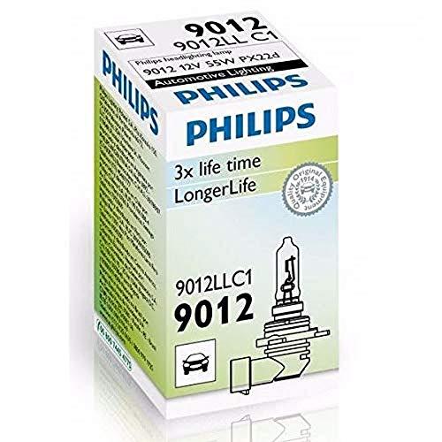 PHILIPS HIR2 9012 12V 55W PX22d LongLife EcoVision 9012LLC1 Car Headlight Bulb Single