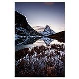 artboxONE Poster 120x80 cm Natur Matterhorn Mountain Lake,