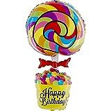 GRABO Happy Birthday Lollipop XXL Folienballon 100cm - Süßes Geschenk zum Geburtstag...