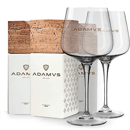 La ginebra orgánica - 3 Botellas + 2 Adamus Vasos
