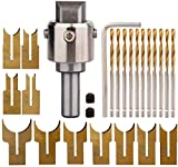 LJTT 24Pcs Set di frese per Perline in Legno per Perline Set di frese per Trapano 6-25mm Kit per Utensili per la Lavorazione del Legno con Lama in Metallo Duro