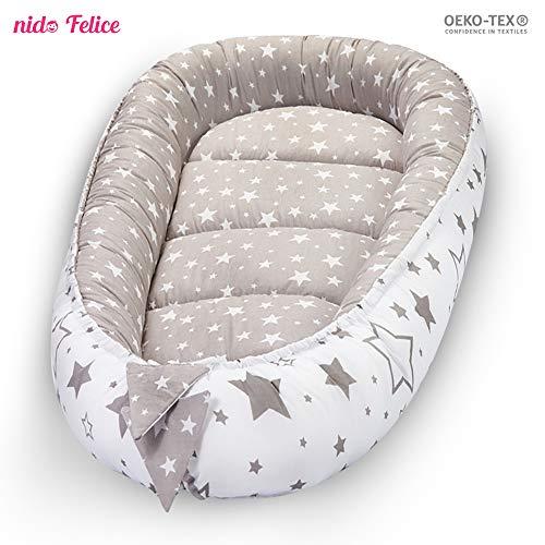 Bozzolo Nido Felice: riduttore culla universale per neonato 100% COTONE CERTIFICATO OEKO-TEX®. Paracolpi ipoallergenico traspirante.
