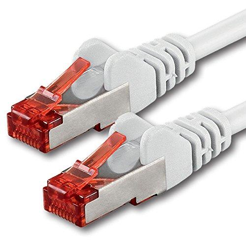 30m - Blanc - 1 pièce - CAT6 Câble Ethernet - Câble Réseau RJ45 10/100 / 1000 Mo/s câble de Patch LAN Câble |Cat 6 S-FTP PIMF 250 MHz Compatible avec Cat 5 / Cat 6a / Cat 7