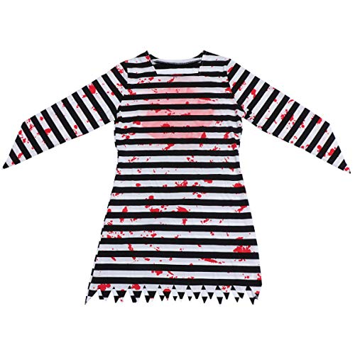 TOYANDONA Halloween Prisoner Costume Bloody Prisoner Cospaly Dress Horror Party Pretend Play Clothing for Performance Masquerade Supplies XL Size (Assorted Color) -  2RPUY5117H3SI134QCIZGS