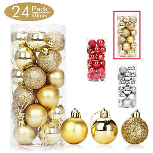 Aitsite Palle di Natale Palle per Albero di Natale Bauble 4 CM Porta Applique Ornamenti Decorazioni Albero Palle Decorative Festa per Matrimoni Forniture