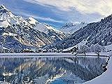 Puzzles Rompecabezas rompecabezas de madera en Englena paisaje de invierno de montaña suiza para adultos y adolescentes juego de rompecabezas grande-300 piezas
