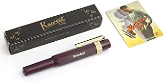 Kaweco Sport Classic Fountain Pen Bordeaux, Fine Nib with Kaweco Sport Octagonal Clip Gold
