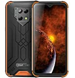 Blackview BV-9800(2020) IP68 Smartphone Resistente - 48MP+16MP Cámara, Helio P70 6GB RAM 128GB ROM, Android 9.0 IP68 Móvil Antigolpes Impermeable,Batería 6580mAh,Carga Inalámbrica NFC DUAL SIM Naranja
