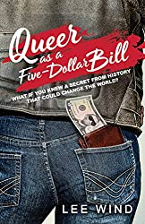 'Queer As A Five-Dollar Bill' book cover with $5 poking out of the back of a boy's jeans