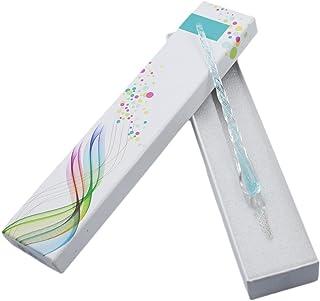 Myoffice ガラスペン サインペン ビジネスギフト 文具 ボックス付け (蓄光水色)