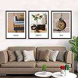 NFXOC Be Still My Soul Quotes Pintura en Lienzo Imágenes artísticas de Pared Reloj de Flores Carteles e Impresiones para decoración del hogar 11.8'x19.6 (30x50cm) 3pcs Sin Marco