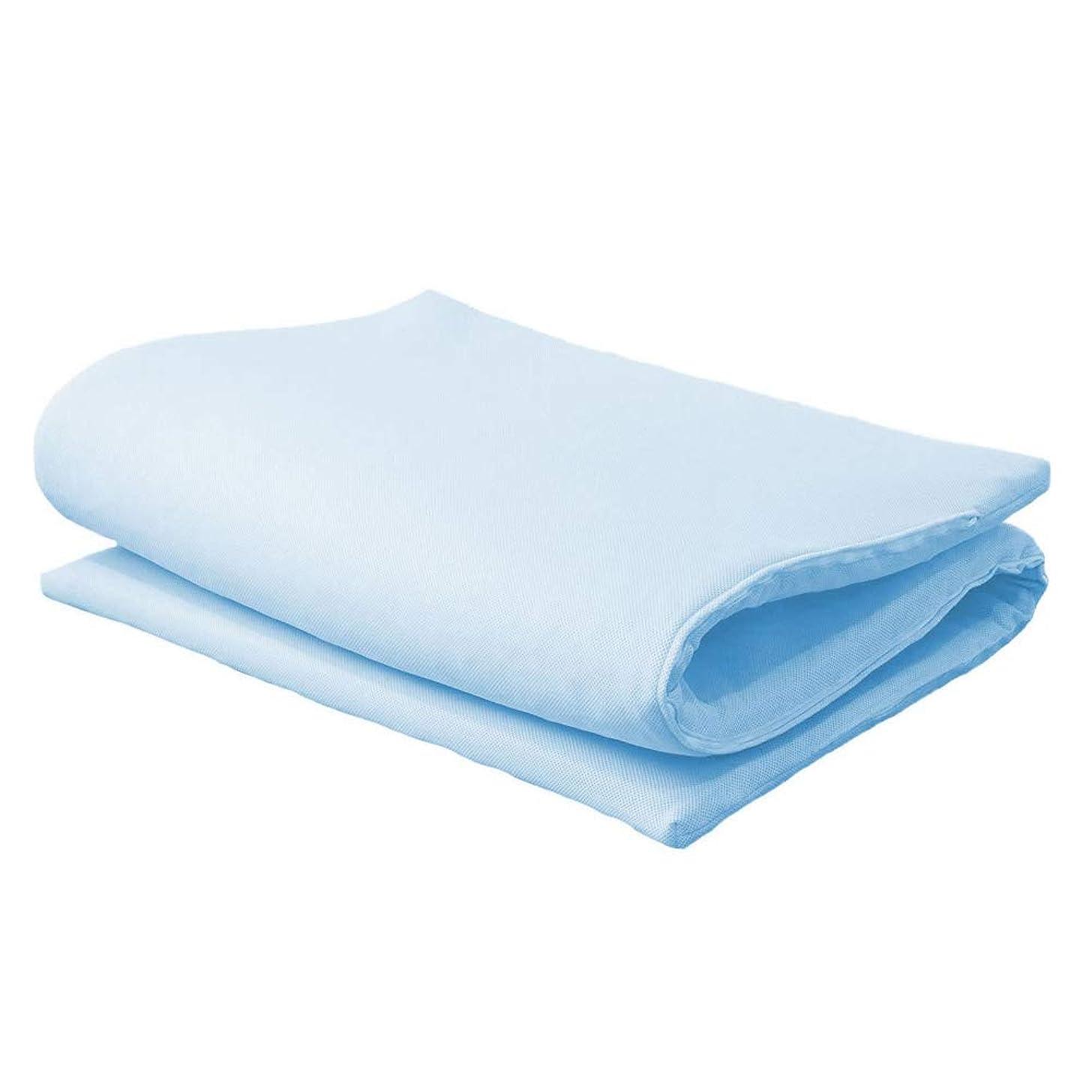 英語の授業がありますピクニックをするフェザー眠り姫 高反発 ブレスエアーR ハード40mm マット シングル ブルー 通気性 高耐久性 洗濯可 日本製