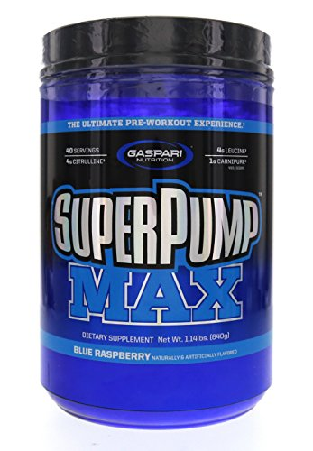 Gaspari Nutrition SuperPump Max Blue Raspberry Ice - 1.41 lbs
