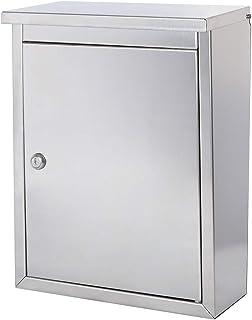 Jssmst(ジェスマット) メールボックス 郵便受け ポスト さびにくいSU304ステンレス 大型 壁掛け 奥行9.5×高さ40×幅30.5cm