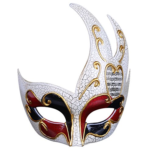 Funpa Venetiaans masker voor heren creatief oogmasker van de partij Venetiaans masker  Azul Y Amarillo
