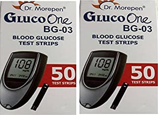 Dr. Morepen BG-03 Test Strips - 100 Strips (Multicolor)