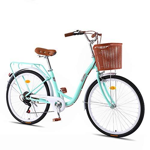 LFANH Urban Bike 7 Speed Lady, Vintage Vélo Classique Vélo Rétro Motocycle Femmes Et...