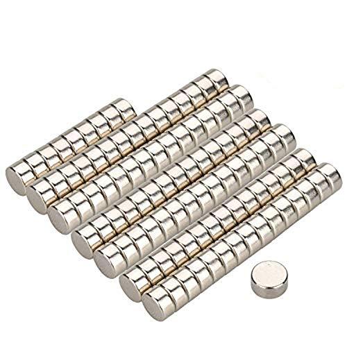Willingood Neodym-Super-Magnete Würfel 6 x 3 mm [100 Stücke] Sehr Starke Magnete für Glas-Magnetboards, Magnettafel, Whiteboard, Tafel, Pinnwand, Kühlschrank, und vieles mehr