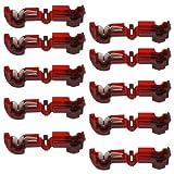 10 Stück T-Abzweigverbinder/Schnellverbinder/Stromdieb rot 0,5-1,5qmm