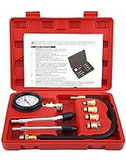 Duokon Herramienta de diagnóstico Conjunto de probadores de compresión 8 Unids G326 Motor de gasolina Gas Gas Cilindro Compresor Probador de presión Calibrador Reparación de motor multifunción