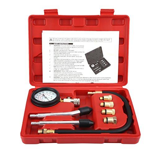 Druck Test Kit Tester, 8 Stücke G326 Auto Fahrrad Benzin Gas Zylinder Kompressor Druck Tester Manometer Test Set