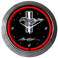 Neonetics Mustang Neon Wall Clock, 15