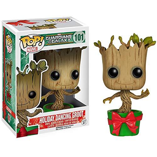 ODEUXS POP Guardianes de la galaxia 2 maceta navideña, decoración de muñeco de árbol pequeño de 10 cm (3,93 pulgadas), decoración de escritorio de computadora, regalo de cumpleaños