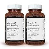 VITAMINE C avec CYNORHODON – 2000 mg (1000 mg de Vit C & 1000 mg d'Extrait de Cynorhodon) x 360 COMPRIMÉS - 12 MOIS DE STOCK ! SKU: ROSEC3x2