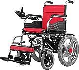 ZHANGYY Silla de Ruedas eléctrica Plegable Ligera y Potente, Potente Motor de Transporte portátil para Personas discapacitadas y Mayores, 12A