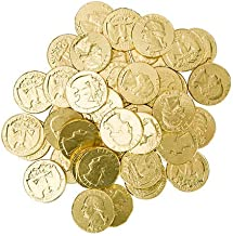 Bulk Gold Milk Chocolate Coins Made In The USA 4 Pounds (Half Dollars & Quarters)