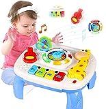 ACTRINIC Mesa Musical De Estudio Juguete para Bebés De 6 A 12 Meses Juguete De Educación Temprana Juguete Musical Mesa De Juego Juguete para Niños De 1 2 3 Años-Sonidos y Luces Diferentes