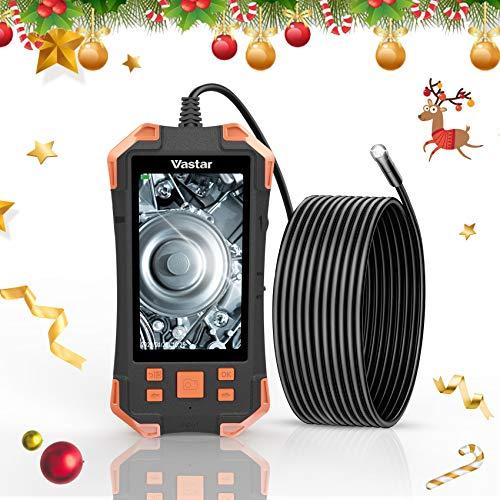 Vastar Inspektionskamera, 3000 mAh, HDKameraauflösung, 4,3 Zoll IPS-Farb-LCD-Monitor Industrieendoskop, 5,5 mm einstellbares Licht-Handendoskop, IP67 Wasserdichtes Endoskoprohr, 5M (Orange)