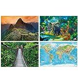 GREAT ART® 4er Set XXL Poster Kinder Motive –