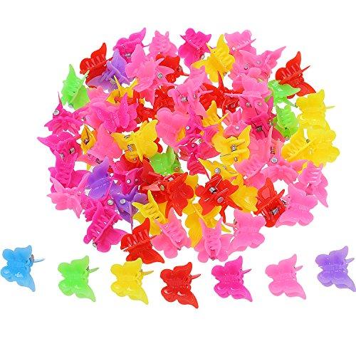 100 Piezas Clips de Pelo de Mariposa Pinza de Pelo, Colores Variados Mini Clip de de Pelo Accesorios de Pelo para Mujeres y...